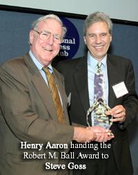 Steve Goss, Henry Aaron & the Award